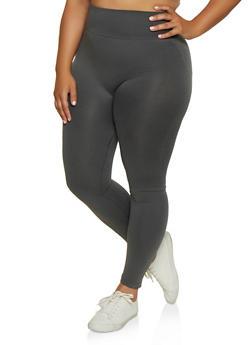 Plus Size Moto Leggings - 3969062909059