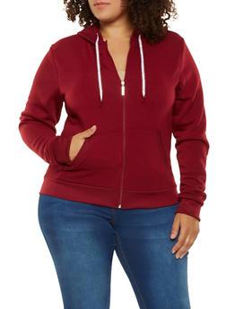 Plus Size Zip Up Sweatshirt - 3982063400207