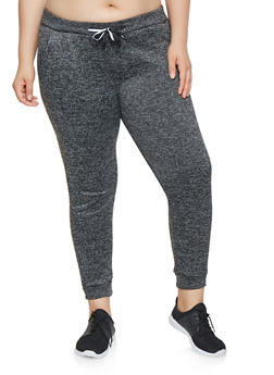 Plus Size Fleece Lined Joggers - 3991063400207