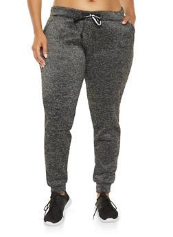 Plus Size Fleece Lined Joggers - 3991063400207