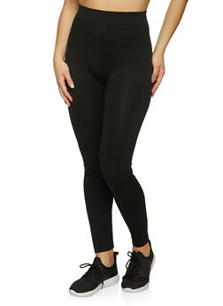 Black Solid Leggings - 5069041453026