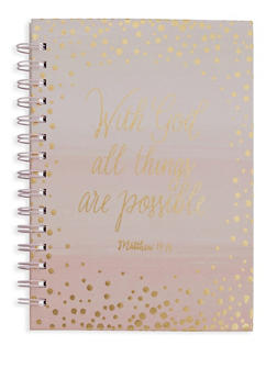 With God All Things Are Possible Spiral Notebook - 5138024907767