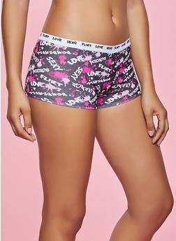 Bombshell Love Graphic Boyshort Panty - 5150035161478
