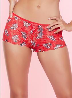 Floral Lace Boyshort Panty - 5150035169872