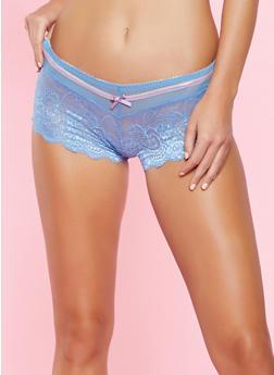 Mesh Lace Boyshort Panty - 5150064879226
