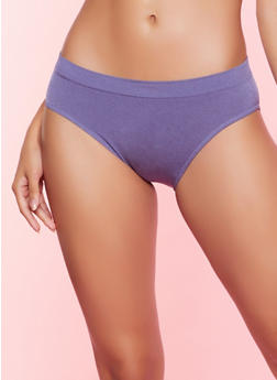 Seamless Solid Bikini Panty - 5162064871111