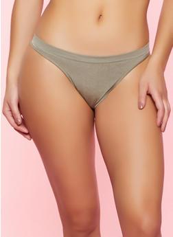 Seamless Solid Thong Panty - 5162064871112