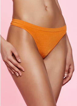 Solid Seamless Thong Panty - 5162064873018