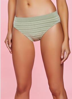 Seamless Striped Bikini Panty - 5162064874304