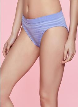 Blue Striped Seamless Bikini Panty - 5162064874310