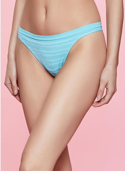 Colored Seamless Striped Thong Panty - 5162064874315