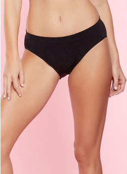 Seamless Bikini Panty - BLACK - 5162064878763