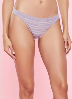 Striped Seamless Thong Panty | 5162064879764 - 5162064879764