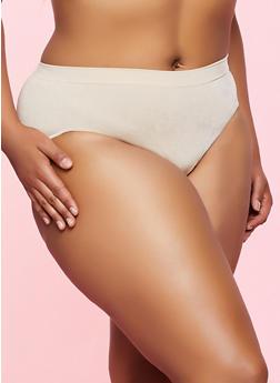 Plus Size Seamless Bikini Panty | 5166064870004 - 5166064870004