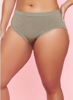Plus Size Seamless Bikini Panty - 5166064871113
