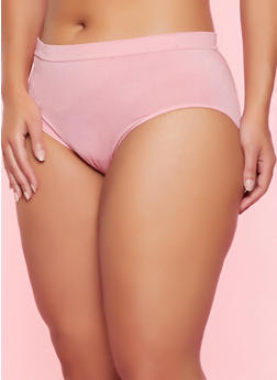 Plus Size Seamless Solid Bikini Panty - 5166064871870