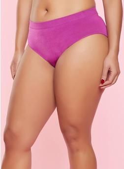 Plus Size Seamless Bikini Panty - WINE - 5166064878763