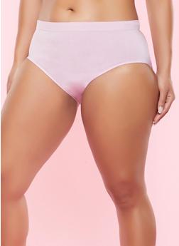 Plus Size Seamless Bikini Panty - PINK - 5166064878763