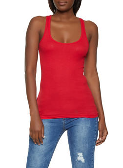 Ribbed Racerback Tank Top - 5201054266601