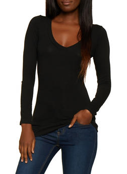 V Neck Long Sleeve Tee - 5204054264900