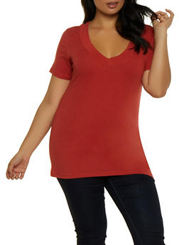 Plus Size Basic Tee - 5242054265056