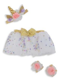 Baby Girls Unicorn Tutu Set - 5503057690111