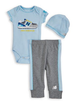 Baby Boys New Balance Graphic Bodysuit and Sweatpants - 5506061950001