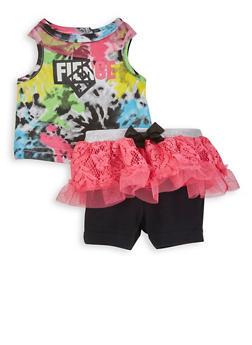 Baby Girls Fierce Tank Top and Tutu Skirt Set - 5506076254027