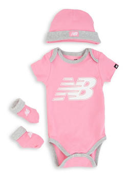 Baby Girls New Balance Logo Bodysuit Set - 5508061950005