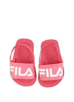 Baby Girls Fila Pink Slingback Footbed Sandals - 5513059220011