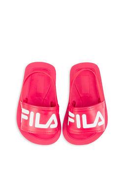 Baby Girls Fila Elastic Strap Footbed Sandals - 5513059220012