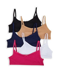 Girls 4-16 5 Pack Cami Bras - 5568054731001