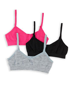 Girls 7-16 3 Pack Seamless Cami Bras - 5568054731052