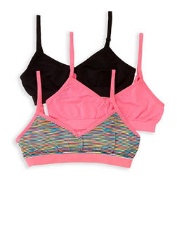 Girls 4-16 3 Pack Cami Bras - 5568054731060