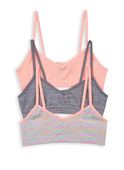 Girls 4-16 Pack of 3 Seamless Cami Bras - 5568054731062