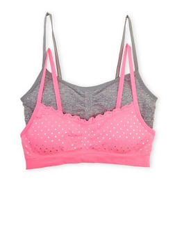 Girls 4-16 Lace Trim Seamless Bras - 5568054731101