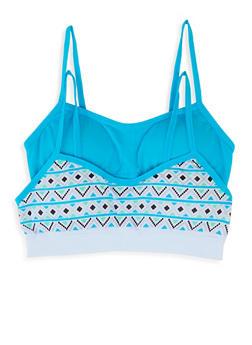 Girls 4-16 Aztec Print Seamless Bras - 5568054731106
