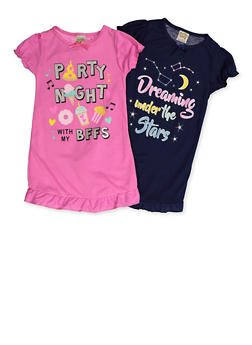 Girls 4-14 Party Night Set of 2 Night Gowns - 5568054731550