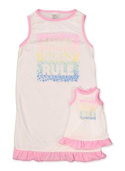 Girls 4-16 Smart Girls Rule Nightgown Set - 5568054731681