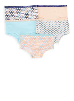 Girls 7-16 Printed and Solid Panty Set - 5568054731730