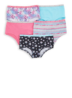 Girls 7-16 Assorted Star Print Boyshort Panties - 5568054731731
