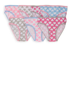 Girls 7-16 Heart Print Day of the Week Panty Set - 5568054731850