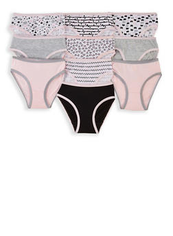 Girls 4-6x Solid and Printed Panty Set - 5568054731904