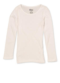 Girls 7-16 Basic Long Sleeve Tee | 5604061950030 - 5604061950030