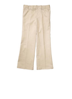 Girls 4-6X Adjustable Waist Pant School Uniform - KHAKI - 5806008930020