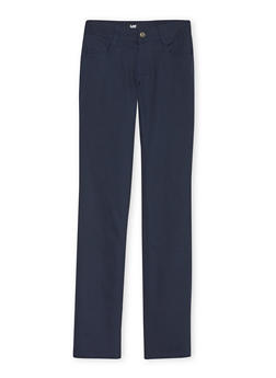 Junior School Uniform Skinny Leg Chino Pants - NAVY - 5809008930020