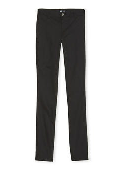 Junior School Uniform Pants with Five Pockets - BLACK - 5809008930021