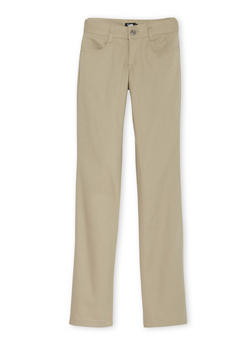 Junior School Uniform Pants with Five Pockets - KHAKI - 5809008930021