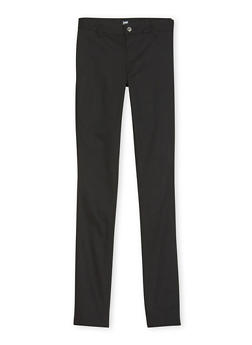 Junior School Uniform Chino Pants - BLACK - 5809008930022