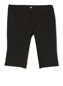 Junior School Uniform Bermuda Shorts - BLACK - 5809008930030